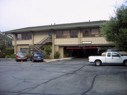 Dentist office building at 1505 Soquel Drive in Santa Cruz  - east entrance from Dominican Hospital Parking Lot