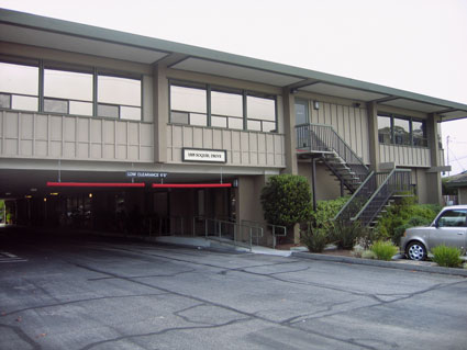 Dentist office building at 1505 Soquel Drive in Santa Cruz - west entrance from Paul Sweet Road
